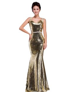 LL5 GOLD Evening Dresses party full length prom gown ball dress robe: Amazon.co.uk: Clothing
