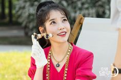 """♡♡ IU talked about her character's unique charms. She said, """"Since she's all twisted up on the inside, she's an ill-tempered character. Luna Fashion, New Fashion, Korean Fashion, Euna Kim, Hello My Love, Weightlifting Fairy Kim Bok Joo, Dont Forget To Smile, Beauty Inside, Successful Women"""