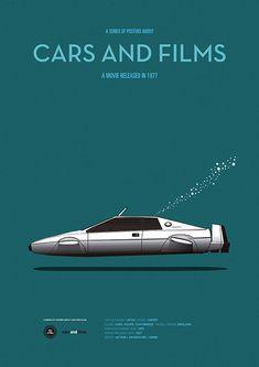 The Spy Who Loved Me / James Bond 007 - Der Spion, der mich liebte Illustrations Poster, Car Illustration, Auto Poster, Car Posters, James Bond Auto, Spy Who Loved Me, Bond Cars, Minimal Movie Posters, Minimal Poster