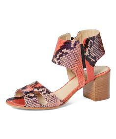 Red & Purple Linosa Leather Sandal