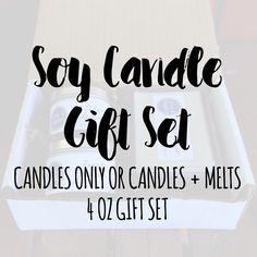 Vegan Gift Set, Vegan Gifts, Candle Gift Set, Wax Melt Gift Set, Soy Candle, Birthday Gift Set, Holiday Gift Set, Christmas Gift Set by AtoZCandles on Etsy https://www.etsy.com/listing/465408898/vegan-gift-set-vegan-gifts-candle-gift