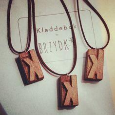 lettepress pendants / info@brzydko.com #pendant, #necklace, #lettepress, #woodtype