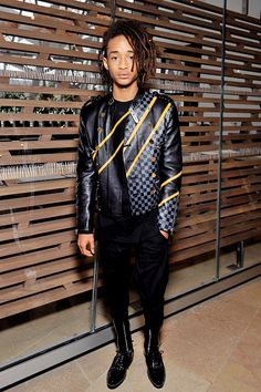 Jaden Smith attends the Louis Vuitton show as part of the Paris Fashion Week Womenswear Fall/Winter 2016/2017. Held at Louis Vuitton Foundation on March 9, 2016 in Paris, France.