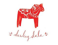 sweet print by rosie moss.....This reminds me of my grandma.......I actually have her wooden horse in my living room. ;)