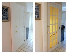 Love the idea of switching out the basement door for this french door! Shine Your Light: Basement