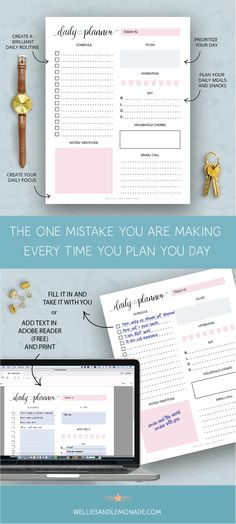 Do you make this common mistake when you are trying to plan your days? Try this. Click through to read now