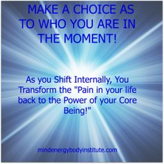 Choice Points become the tipping point that lead you into a healing reality!