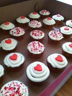 red velvet cupcakes for engagement party