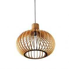 Lámpara BALL WOOD madera haya