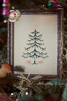 """Christmas Tree (from the book """"Stitch by Penny Black"""") by loretoidas, via Flickr"""