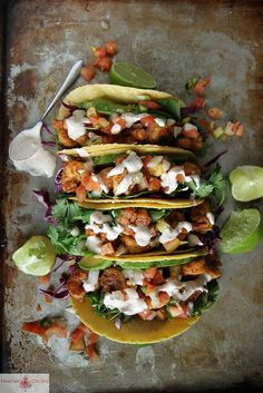 Chipotle Shrimp Tacos by Heather Christo