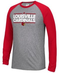 d0d8e6fa3736 adidas Men s Louisville Cardinals Raglan Long Sleeve T-Shirt   Reviews -  Sports Fan Shop By Lids - Men - Macy s