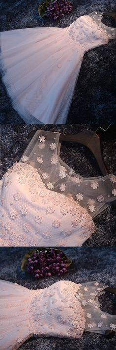 Short Prom Dresses, Pink Prom Dresses, Prom Dresses Short, Open Back Prom Dresses, Princess Prom Dresses, Custom Made Prom Dresses, Beaded Prom Dresses, A Line Prom Dresses, Short Homecoming Dresses, A Line dresses, Open Back Dresses, Open-back Prom Dresses, Beaded/Beading Prom Dresses, Round Homecoming Dresses, A-line/Princess Party Dresses