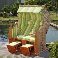nothing could be more relaxing than a personal cabana chair for two