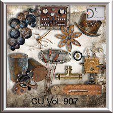 Vol. 907 - Steampunk Mix by Doudou's Design  cudigitals.com cu commercial scrap scrapbook digital graphics#digitalscrapbooking #photoshop #digiscrap