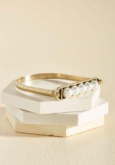 At Your Pearliest Convenience Bracelet, @ModCloth