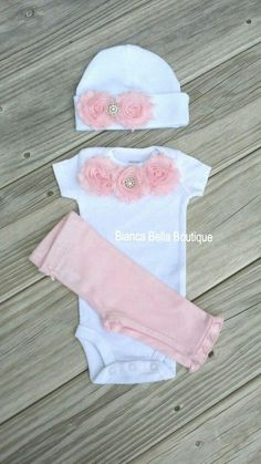 Newborn Take Home Outfit Baby Girl Onesie Newborn Outfit Coming Home Outfit Going Home Outfit Photo Prop Outfit Hospital Outfit Going Home Outfit, Girls Coming Home Outfit, Take Home Outfit, New Baby Girls, My Baby Girl, Baby Love, Baby Kids, Baby Baby, Newborn Outfits