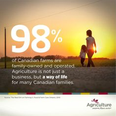 Farming is a family business. In fact, 98% of #Canadian farms are family-owned! via @agmorethanever