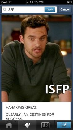 Nick from New Girl, ISFP