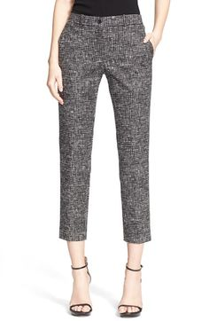 Michael Kors 'Samantha' Print Cotton Sateen Ankle Pants available at #Nordstrom