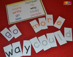sight word puzzles a