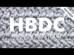 Herringbone DC (HBDC) :: Crochet :: New Stitch a Day = this one looks interesting...