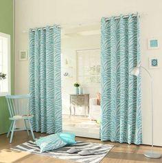 "Curtain Drapes Set Zebra Panel Pair Blue Teal Darkening Grommet 84""L x 52""W.. CUTE! found on eBay"