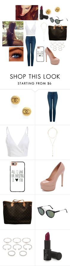 """""""Sem título #539"""" by laura-vezzani ❤ liked on Polyvore featuring Chanel, NYDJ, Givenchy, Casetify, Schutz, Louis Vuitton, RetroSuperFuture and Forever 21"""