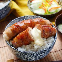 【ネトめし】さけるチーズを豚バラで巻いちゃったドーン! Egg Recipes, Asian Recipes, Cooking Recipes, Good Food, Yummy Food, Love Eat, Breakfast Time, Japanese Food, Food Videos