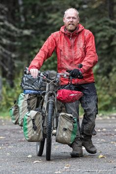 It was a bit muddy on the way up to the Bowron Lakes. Touring Bicycles, Touring Bike, Bikepacking Bags, Cycle To Work, Camping And Hiking, Backpacking, Cargo Bike, Cycling Art, Sport