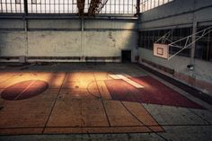 10 Abandoned Basketball Courts and Ice Hockey Rinks Basketball Systems, Basketball Court, Ice Hockey Rink, Sport Hall, Abandoned, Urban, Gap, Concept