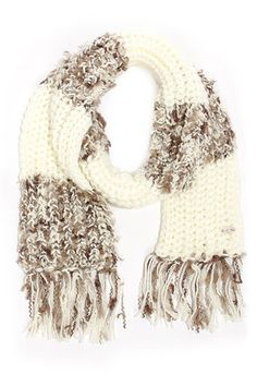 (CREAM) Cozy Christmas #lulus and #holidaywear - Billabong In Colorful Dreamz Taupe and Ivory Scarf at LuLus.com!
