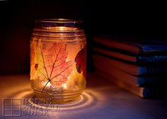 Two stunning projects using autumn leaves and materials you probably have at home.