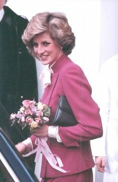 March 13, 1984: Princess Diana visits London's Hammersmith Hospital Rheumatology Unit which specializes in treating Lupus.