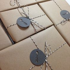 Avis Wampler (@aviedesignsstationery) | Brown paper packages ******* with string . . . Sending out orders really is one of my favorite things. #weddinginvitations | Intagme - The Best Instagram Widget