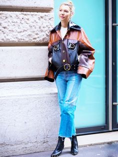 17 Street Style–Approved Ways to Wear Blue Jeans via @WhoWhatWearUK