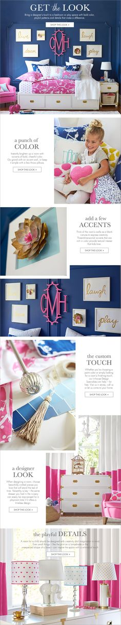 bring a designer's touch to a bedroom or play space with bold color, playful patterns an details that make a difference.