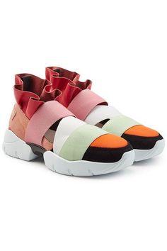 03e11cb578e3 EMILIO PUCCI - Ruffle Sneakers with Suede   STYLEBOP Emilio Pucci, Sneakers  Fashion Outfits,