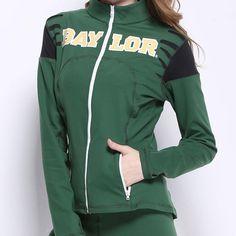 Baylor Bears NCAA Womens Yoga Jacket (Green) (Large)