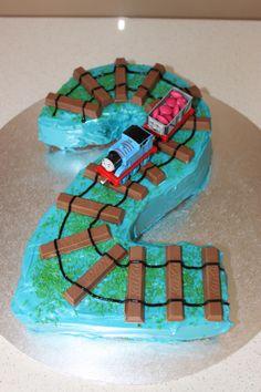 Number 2 train cake