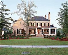 Eplans Colonial House Plan - Abberley Lane from The Southern Living. (love the look of the porch and the colors)