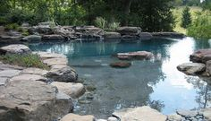 Add some rocks or a waterfall to give your pool a more natural and serene look - Decoist
