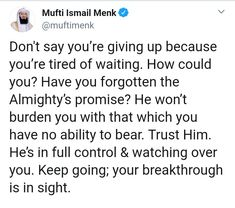 trust Allah ❤️ - Indeed it has a great meaning 💘 Trust Allah Quotes, Hadith Quotes, Muslim Quotes, Best Islamic Quotes, Quran Quotes Inspirational, Islamic Qoutes, Islamic Teachings, Motivational Quotes, Reminder Quotes