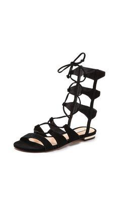 Schutz Erlina Lace Up Sandals