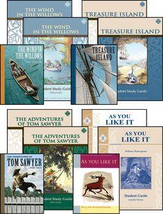 Eighth Grade Literature Guide Set (12-13-14-15-16-17Y) [Comprehension] [Vocabulary] [Spelling] [Composition] [Grammar] [Literature]