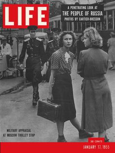 Life mag with Russians. Cold War.