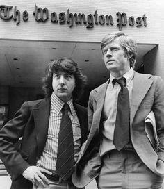 Dustin Hoffman & Robert Redford in All The President's Men (1976) by Alan J. Pakula.
