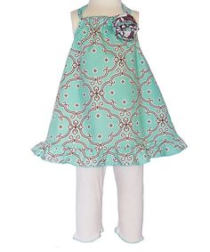 Blue Dutch Lattice Halter Tunic & Pants - Toddler & Girls by AnnLoren #zulily #zulilyfinds