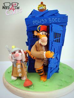 Tigger in Doctor Who cake