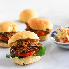 Caribbean Pulled Chicken Burgers